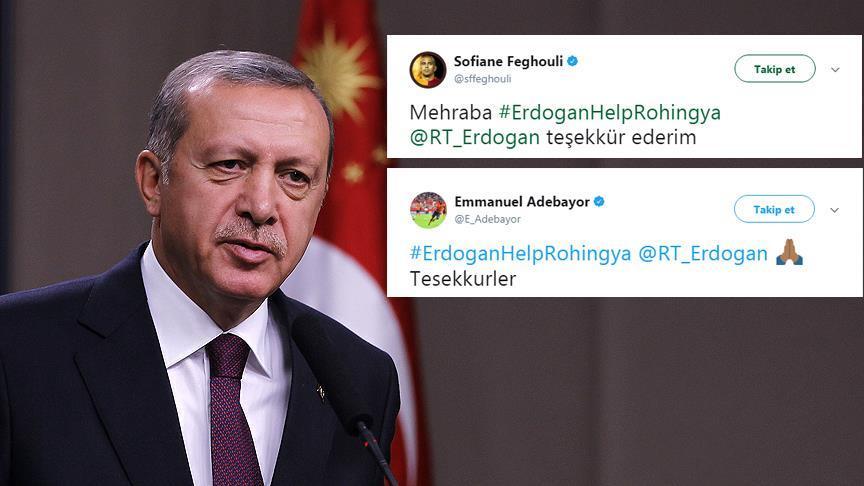 Feghouli ve Adebayor'dan Cumhurbaşkanı Erdoğan'a teşekkür