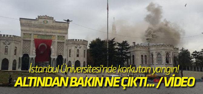 İstanbul Üniversitesi'nde korkutan yangın! Altından bakın ne çıktı... / VİDEO
