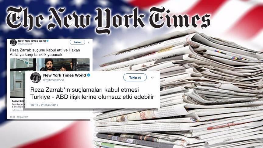 NYT, 'Türkçe Twitter paylaşımlarının' gerekçesini açıklayamadı