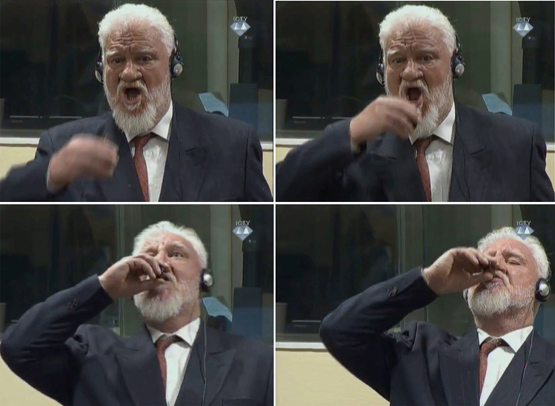 Eski Hırvat general belirsiz madde içti, duruşma sonlandırıldı TIKLA&İZLE