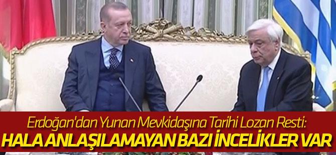 Erdoğan'dan Yunan Mevkidaşına Tarihi Lozan Resti: Hala Anlaşılamayan Bazı İncelikler Var