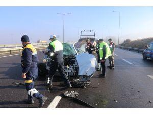 Anadolu Otoyolu'nda trafik kazası: 5 yaralı