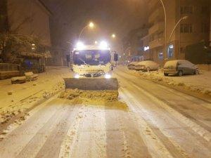 Seydişehir Belediyesi'nden kar mesaisi