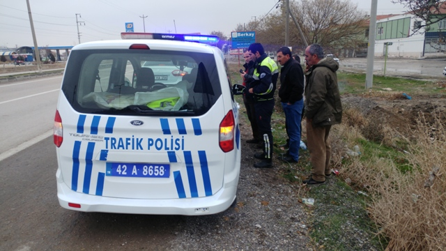 Konya'da kamyonun çarptığı engelli hayatını kaybetti