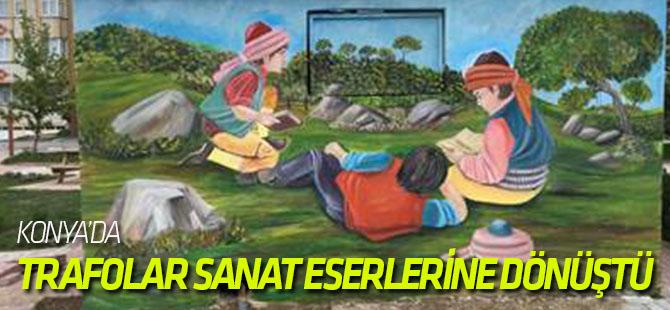 Akşehir'de Trafolar Sanat Eserlerine Dönüştü