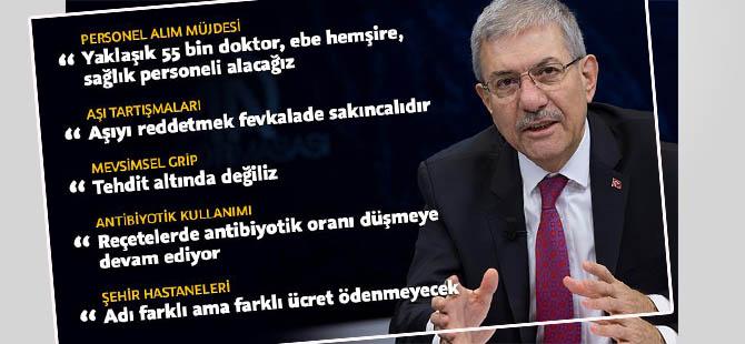Sağlık Bakanı Demircan'dan 'aşı' açıklamasıu