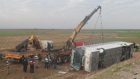 Silopi'de Irak uyrukluları taşıyan otobüs devrildi: 9 ölü