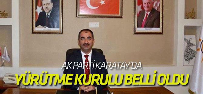 AK Parti Karatay'da Yürütme Kurulu Belli oldu