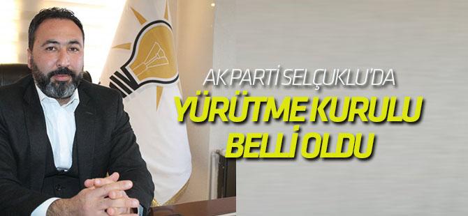 AK Parti Selçuklu'da Yürütme Kurulu Belli oldu