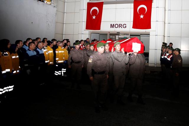 Isparta'da şehit olan iki pilot Konya'ya gönderildi