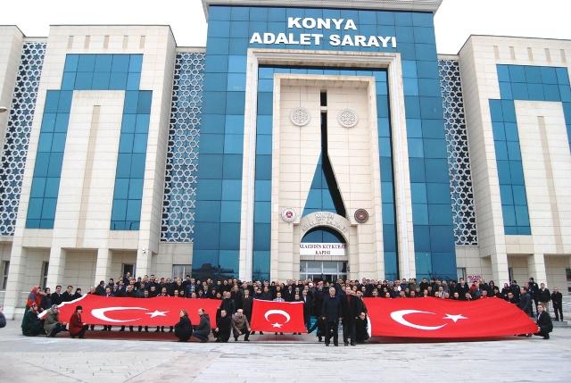 Konya Adliye Çalışanlarından Zeytin Dalı Harekatına Dua'lı Destek