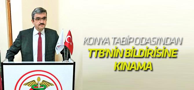 Konya Tabip Odası'ndan TBB'nin Bildirisine Kınama