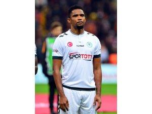 Eto'o Konyaspor formasıyla ilk maçına çıktı