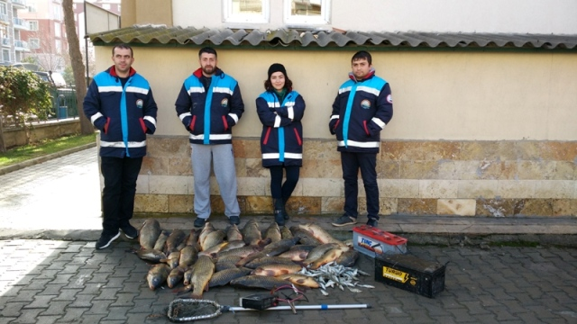 Elektroşokla balık avına 21 bin 292 lira ceza