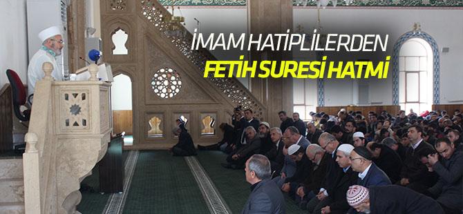 İmam hatiplilerden Mehmetçiğe Fetih Suresi Hatmi