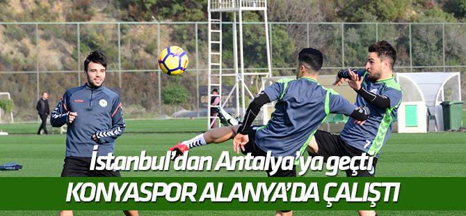 Konyaspor, Alanya'da çalıştı