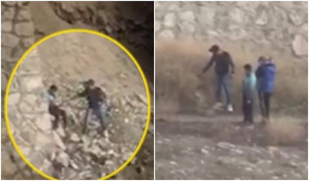 Yaşları 12-13, elleri silahlı, üstelik Ankara'da... / VİDEO