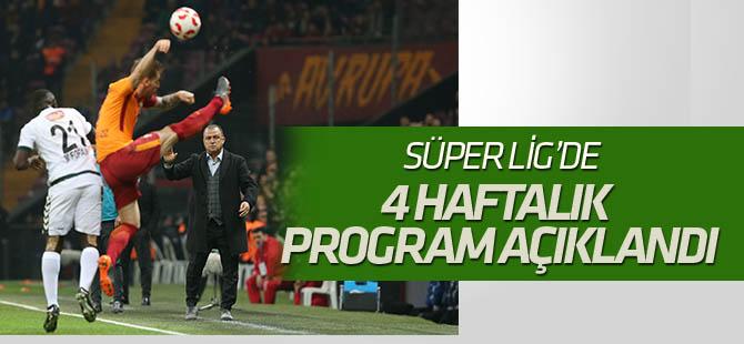 Spor Toto Süper Lig'de 23, 24, 25 ve 26. hafta maç programı açıklandı