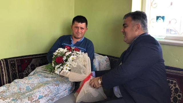 Özgüven Afrin Gazisini Ziyaret Etti