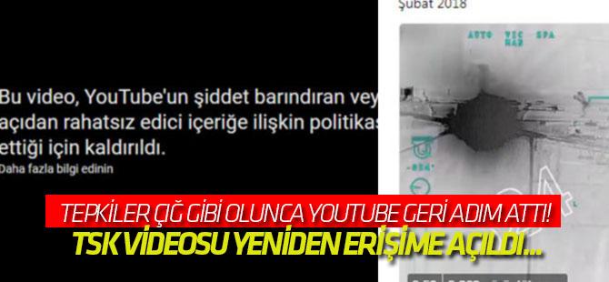 Youtube geri adım attı! TSK videosu yeniden erişime açıldı...