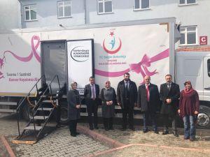 Kaman'da gezici kanser tarama aracı