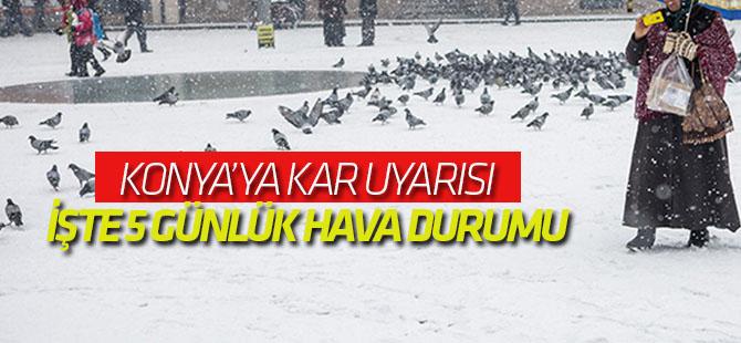 Meteoroloji'den Konya'ya kar uyarısı!