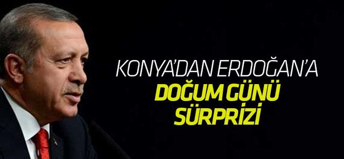 Konya'dan Cumhurbaşkanı Erdoğan'a ''Doğum Günü'' sürprizi