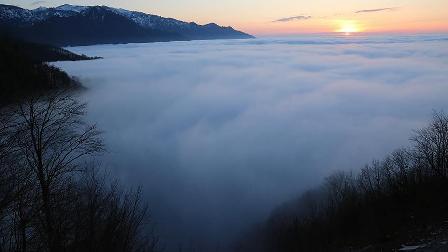 Artvin'de bulutlar üzerinde yolculuk
