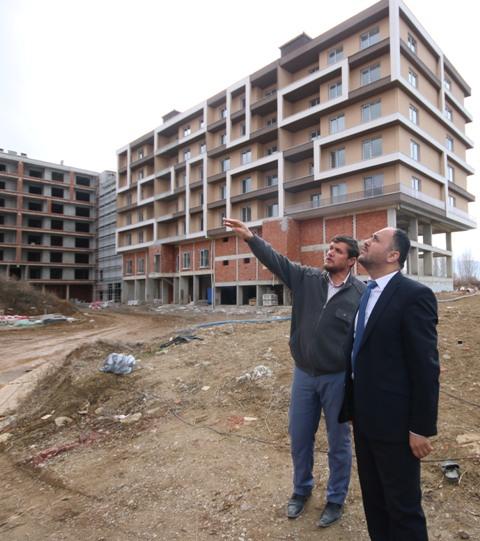 Başkan Özaltun'dan toplu konut proje alanında inceleme