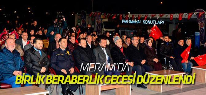 Meram'da birlik ve beraberlik gecesi