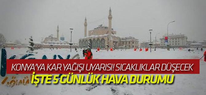 Meteoroloji uyardı: Konya'da kar yağışı bekleniyor