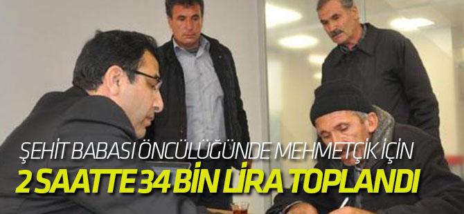 Şehit Babası Öncülüğünde Mehmetçik İçin 2 Saatte 34 Bin Lira Toplandı