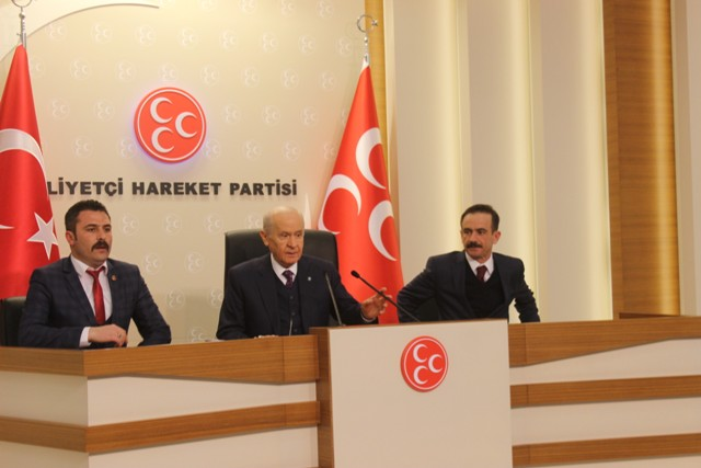 MHP Karapınar ilçe teşkilatı Bahçeli'yi ziyaret etti
