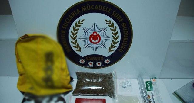 Samsun'da uyuşturucu operasyonu: 5 gözaltı !
