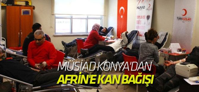 Müsiad Konya'dan Afrin'e Kan Bağışı