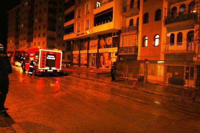 Seydişehir'de iş yeri yangını