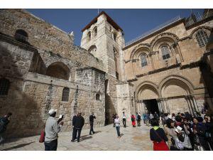 Hristiyan hacılar Kıyamet Kilisesi'ne kavuştu