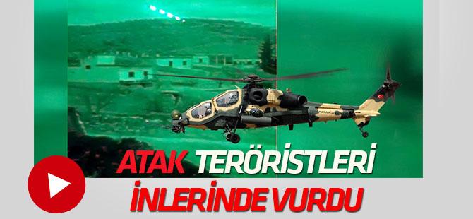 Teröristler ATAK helikopterleri ile etkisiz hale getirildi