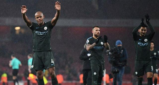 Manchester City'den şampiyonluğa 5 kala