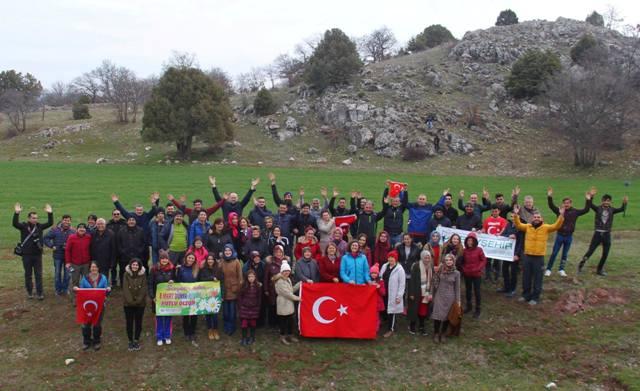 Beyşehir'de doğaseverler kültür ve doğa gezisinde buluştu