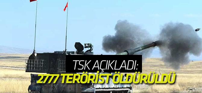 TSK: 2777 terörist öldürüldü