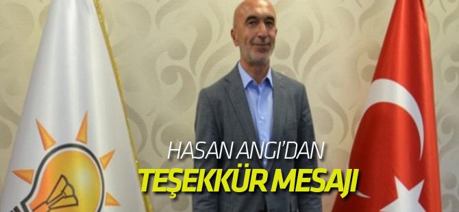 AK Parti Konya İl Başkanı Angı'dan Teşekkür Mesajı