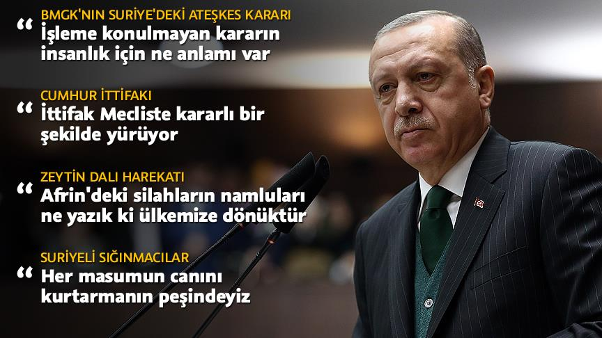 Cumhurbaşkanı ve AK Parti Genel Başkanı Erdoğan, grup toplantısında konuştu