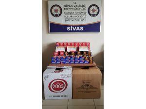 Sivas'ta kaçak sigara operasyonları