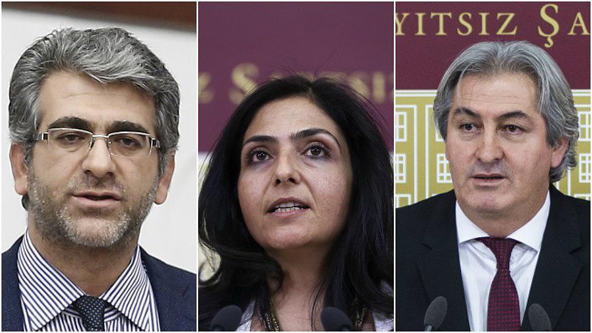 HDP'li üç milletvekili hakkında fezleke