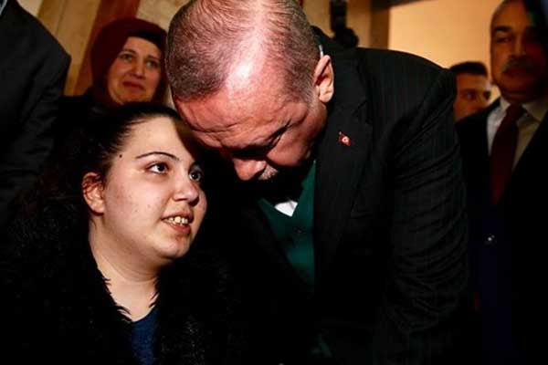 Engelli Rabia, Cumhurbaşkanı Erdoğan ile görüştü