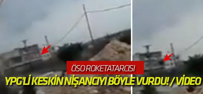 ÖSO roketatarcısı, YPG'li keskin nişancıyı böyle vurdu! / VİDEO