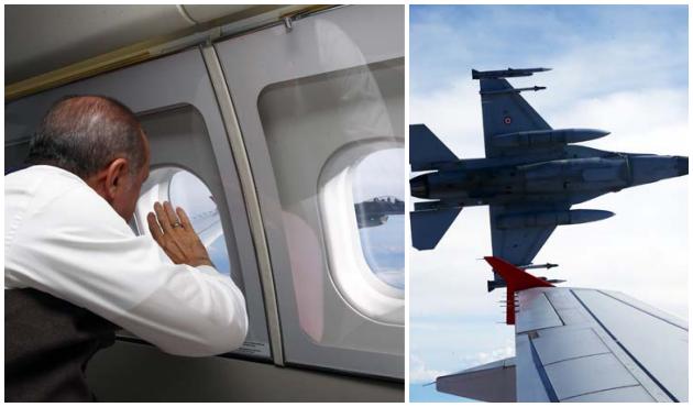 Cumhurbaşkanı Erdoğan'dan F-16 pilotuna selam!