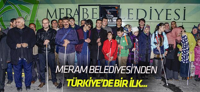 Görme engellilerden Türkiye'de bir ilk