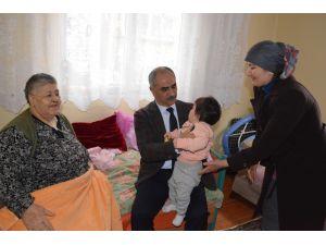 Başkan Aydın'dan Uzunkaya ailesine yardım